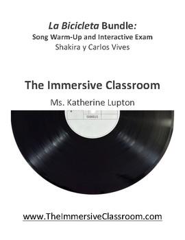 La Bicicleta Bundle: Song Warm-up and Interactive Exam