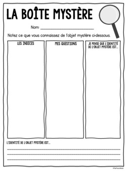 La Boite Mystère- a routine for the French classroom