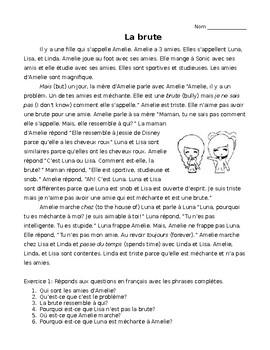 La Brute- French TPRS Story