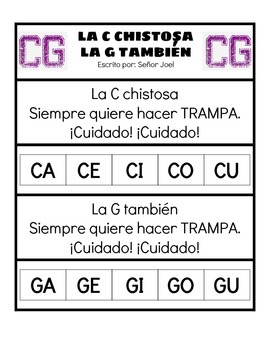 La C Chistosa (Spanish Immersion Song to Teach How to Read the Tricky C and G!)