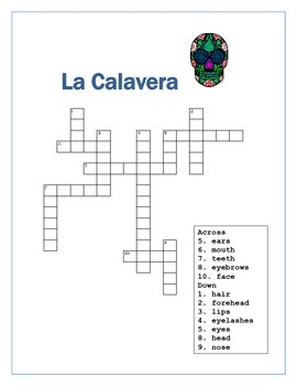La calavera label parts of the face spanish word search by el jaguar la calavera label parts of the face spanish word search ccuart Choice Image