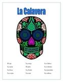 La Calavera-Label Parts of the Face -Spanish- Word Search-Mexico