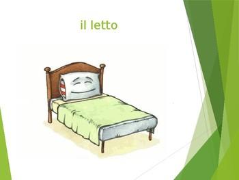 La Camera da Letto- Furniture & Prepositions in Italian