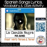 La Camisa Negra Por Juanes Spanish Cloze Activity - Song Lyrics - Preterite