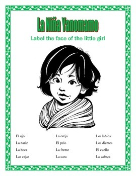 La Cara- Spanish Face Parts- The Yanomamo Girl- Earth Day- Dia de la Tierra