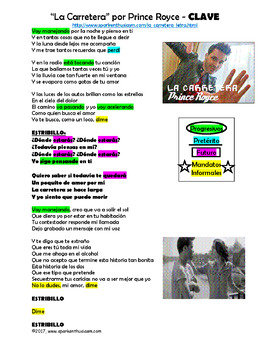 La Carretera Spanish Song Lyrics & Activities - Prince Royce - Musica