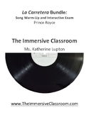 La Carretera Bundle: Song Warm-up and Interactive Exam