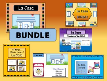 La Casa BUNDLE - Spanish House Vocabulary