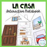 Spanish Rooms in the House - La Casa / House Interactive Notebook