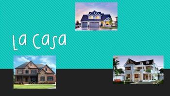 La Casa House Vocabulary in Spanish PPT