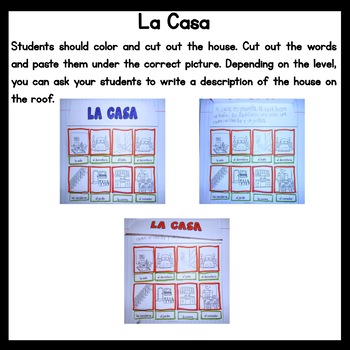 Spanish Interactive Notebook - La Casa