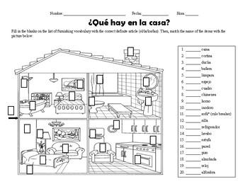 La Casa Labels Worksheets & Teaching Resources | TpT