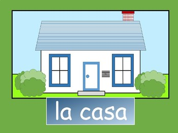 La Casa – Spanish House Vocabulary Presentation and Board Game