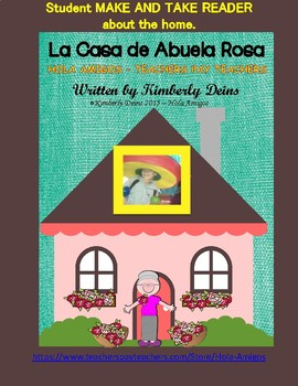 La Casa - Spanish student make and take reader about the home.