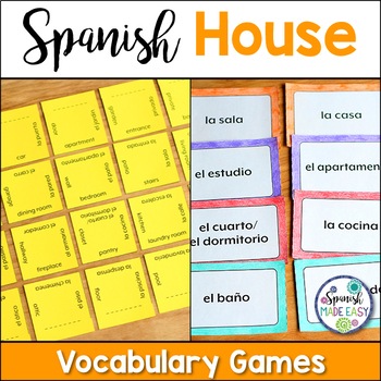 La Casa (The House) Matching Squares and Flash Cards
