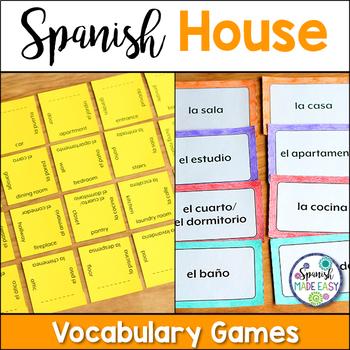 La Casa (The House) Vocabulary Games