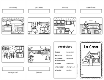 La Casa (The House) Mini Booklet Activity