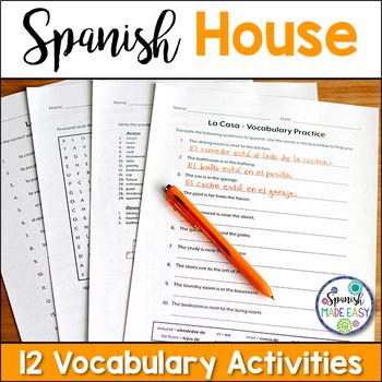 La Casa (The House) Spanish Vocabulary Practice