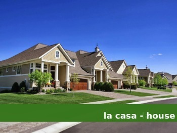 La Casa - The House Vocabulary Presentation