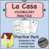 La Casa Vocabulary Practice Worksheets (Así Se Dice Level