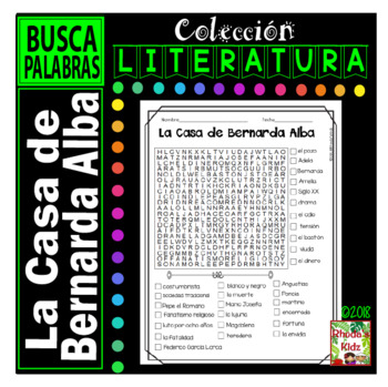 La Casa de Bernarda Alba   - Word search