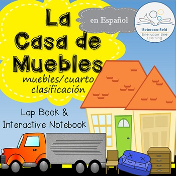 Furniture Room Sort File Folder Flip-Flap La Casa de Muebles SPANISH VERSION