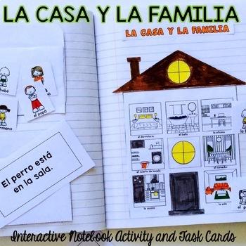 La Casa y La Familia {Interactive Notebook}