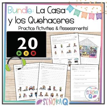 La Casa y Los Quehaceres Domésticos - Complete Vocabulary Unit