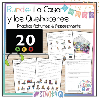 La Casa y Los Quehaceres Domésticos - Complete Vocabulary Unit