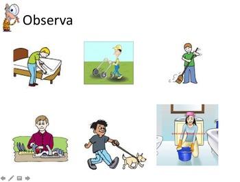La Casa y Los quehaceres: interactive activities and cultural listening activity