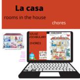 La Casa y los Quehaceres, Google Slide. Writting and Speaking
