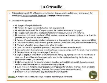 La Citrouille et C'est l'Halloween - BUNDLE (French: Pumpkins and Halloween)