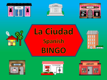 La Ciudad Bingo – The City Vocabulary in Spanish