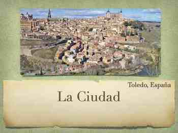 La Ciudad - Spanish Places in City & Transportacion and Simple Future week unit