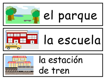 La Ciudad Vocabulary Word Wall - The City Vocabulary in Spanish