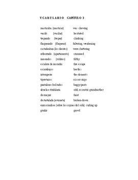 La Ciudad de las Bestias  vocabulary practice  3