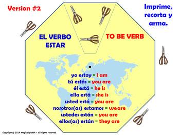 La Clase de español. El Verbo Estar. / To Be verb in Spanish