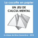 La Cocotte en papier - UN JEU DE CALCUL MENTAL