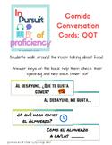 La Comida: Quiz Quiz Trade Conversation Speaking Cards