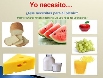 La Comida: Conversations about Our Food Preferences & Needs in Spanish