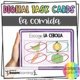 La Comida Digital Task Card Activity | BOOM Cards | Distan