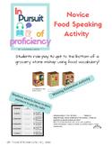 La Comida: Food Speaking Info-Gap Activity