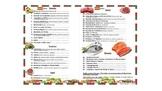 La Comida - Food - Realidades - Spanish 1 - Menus - Comp Q
