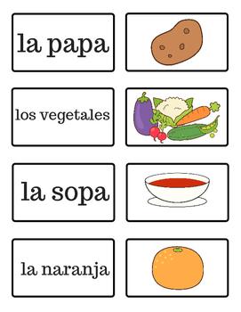 La Comida - Food - Spanish Flash Cards