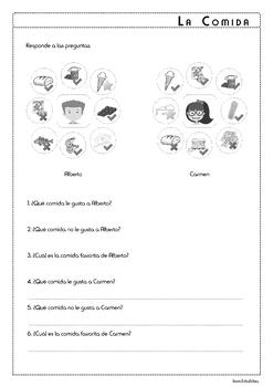 Food in Spanish - La Comida - Activity Pack