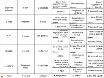 La Comida - Food in Spanish - Cranium Review
