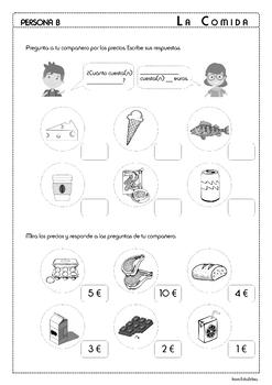 Food in Spanish - La Comida - Speaking Activities