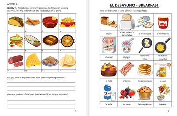 La Comida - Food in Spanish - vocabulary and exercises