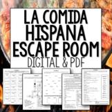 La Comida Hispana Spanish food Escape Room digital and printable