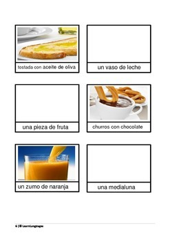 La Comida I - Interactive Notebook Pages - Introduction to the topic food